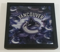 "2009 Real D NHL Ice Hockey Vancouver Canucks Team Holographic 13"" x 13"" Picture Wall Hanging Sports Collectible"