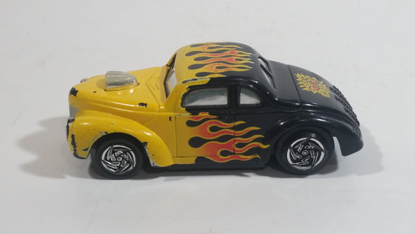 Rare VHTF Hot Wheels Ford Coupe Hot Rod Black and Yellow w