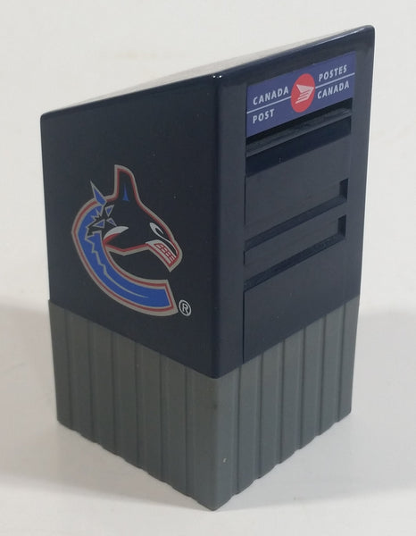 "NHL Ice Hockey Team Vancouver Canucks Miniature Small 3"" Tall Canada Post Mail Box Shaped Coin Bank Sports Collectible"