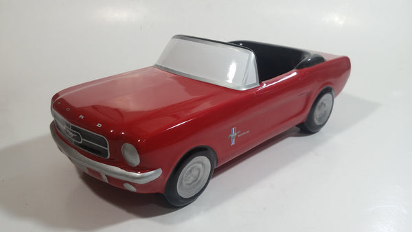 "Teraflora Gifts 1965 Ford Mustang Convertible Red and Black Classic Muscle Car Shaped Ceramic Flower Planter 10 1/2"" Long"