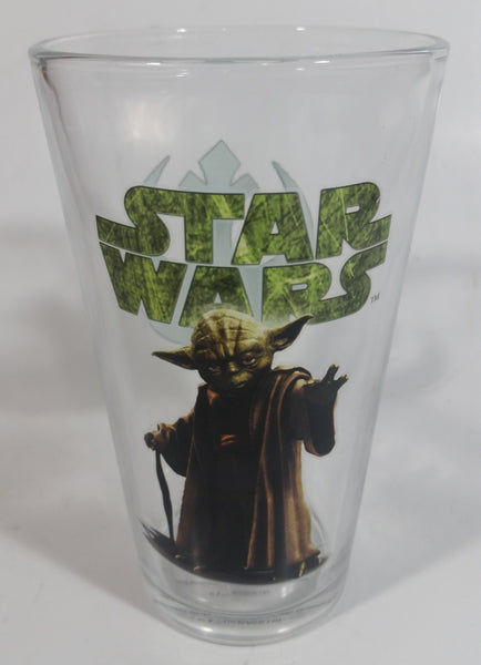 "Vandor Lucas Films Star Wars Yoda 6"" Glass Drinking Cup Collectible"