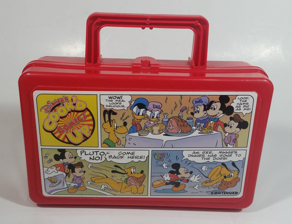 Vintage Whirley Disney's Cook'd Up Comics Red Plastic Pencil Case