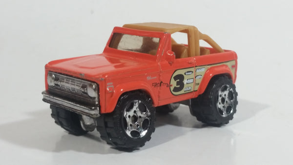 2008 Matchbox Off-Road Ford Bronco 4x4 1972 Orange Die Cast Toy Car Vehicle