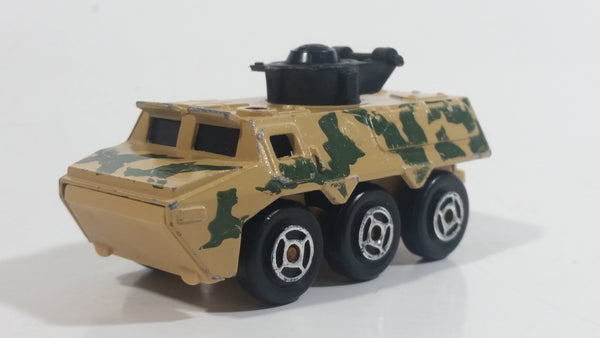 Majorette Sonic Flashers Special Forces Combat Tank Beige Army Camouflage Die Cast Toy Car Military Vehicle