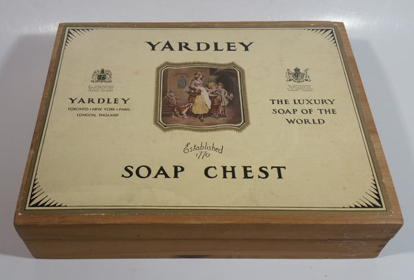 Vintage Yardley London England Dovetail Wood Wooden Soap Chest