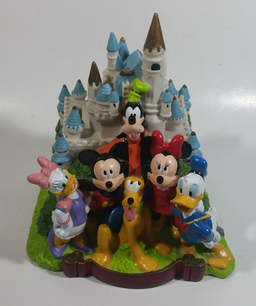 "2001 Disney Disneyland Characters in Front of Castle 8"" Tall PVC Coin Bank"