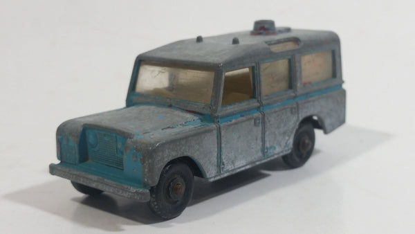 Vintage Lesney Matchbox Series No. 12 Land Rover Safari Blue (Bare Metal) Die Cast Toy Car Vehicle