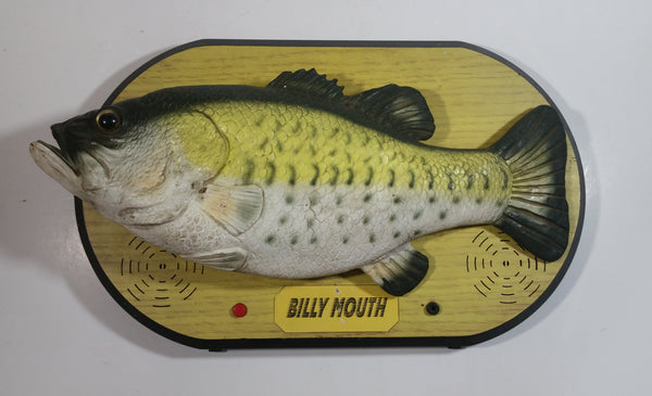 "HTF Version Elvis ""Billy Mouth"" Big Mouth Billy Bass Singing Moving Fish On Plaque Novelty Collectible"