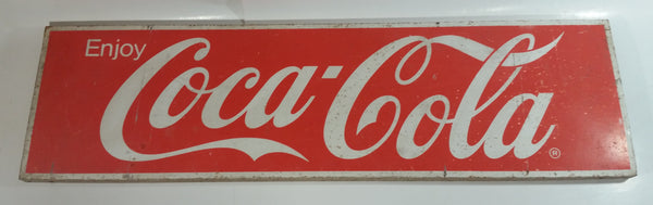 "Vintage Enjoy Coca-Cola Large 10"" x 36"" Metal Sign"