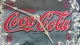 "Vintage Enjoy Coca-Cola Coke Soda Pop Wood Framed Glass Mirror Advertising Clock 13 1/4"" x 21 1/4"""