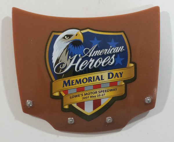 2007 Action Racing NASCAR Dale Earnhardt Jr. American Heroes Memorial Day 1/24 Scale Hood Magnet Racing Collectible