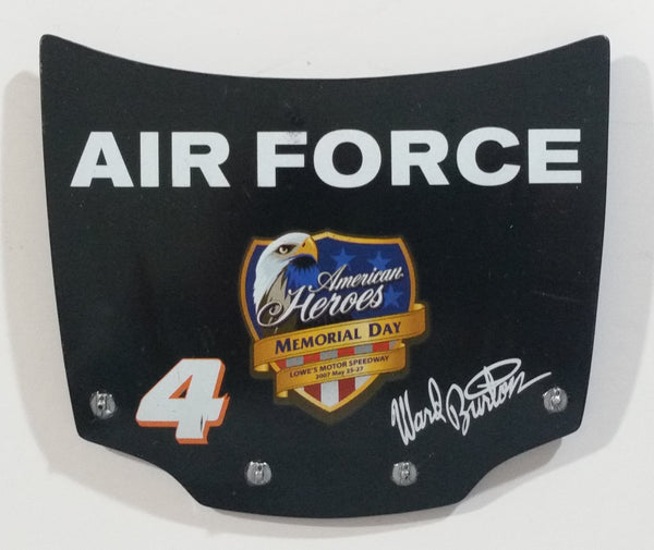 2007 Action Racing NASCAR #4 Jeff Burton Air Force American Heroes Memorial Day 1/24 Scale Hood Magnet Racing Collectible