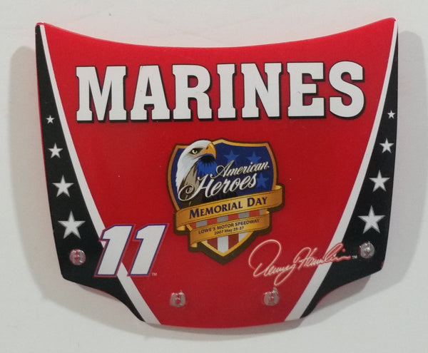 2007 Action Racing NASCAR #11 Denny Hamlin Marines American Heroes Memorial Day 1/24 Scale Hood Magnet Racing Collectible