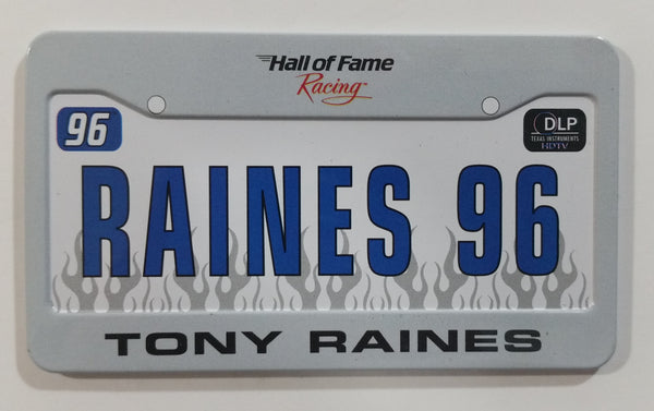 "Hall of Fame Racing NASCAR ""Raines 96"" Tony Raines 2"" x 3 1/2"" Miniature Metal License Plate"