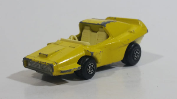 Rare Version (White Interior) 1972 Lesney Matchbox Superfast Woosh - N - Push No. 58 Yellow #2 Die Cast Toy Car Vehicle