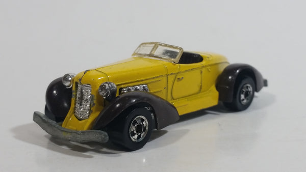 1981 Hot Wheels Repaints Auburn 852 Yellow Die Cast Toy Car Vehicle - BW Hong Kong