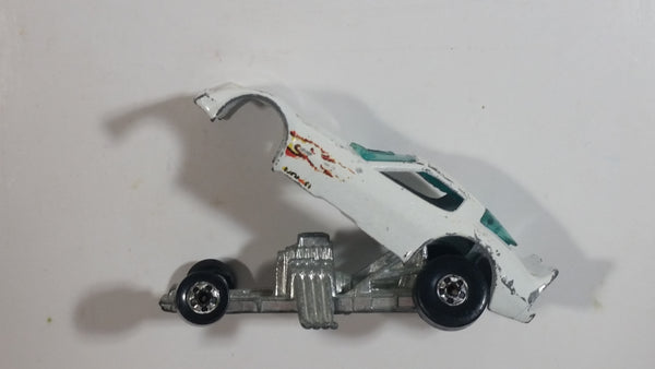 Vintage 1982 Hot Wheels Firebird Funny Car White Die Cast Toy Car Vehicle with Lifting Body