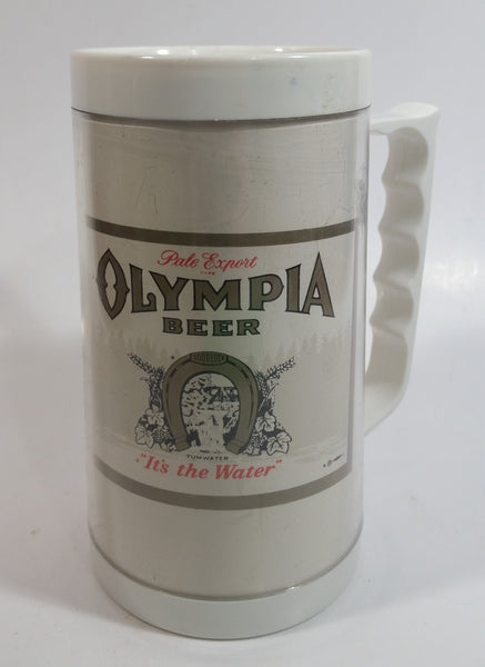 "Olympia Beer Pale Export ""It's the Water"" 6 1/2"" Plastic Thermoserve No. 480 Mug"