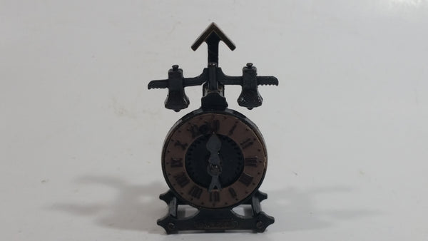 Miniature Weighted English Clock Metal Pencil Sharpener Doll House Furniture Size Adjustable