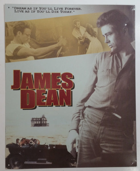"James Dean Actor Poster 12"" x 15"" Tin Metal Sign Hollywood Movies Collectible"