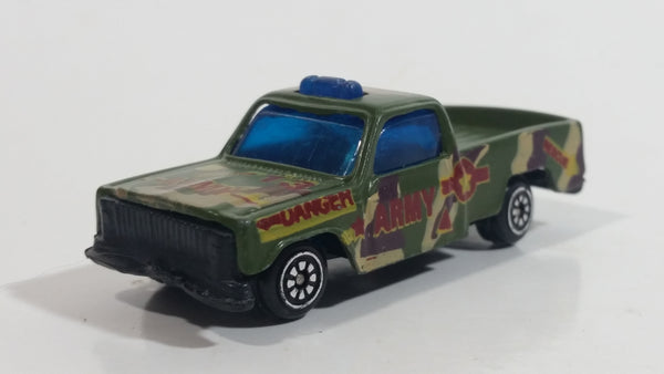 Unknown Brand Danger Rescue Army Truck #13 Army Green Camouflage Die Cast Toy Military Car Vehicle
