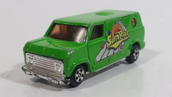 "Vintage Speed Wheels Series II ""SunRay"" Custom Green Van Die Cast Toy Car Vehicle Made in Hong Kon"