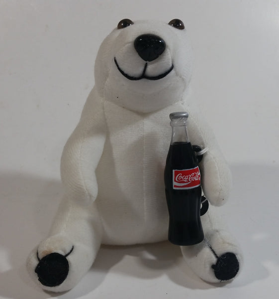 Coca-Cola Coke Soda Pop Beverages White Polar Bear Stuffed Animal Plush Plushy Collectible