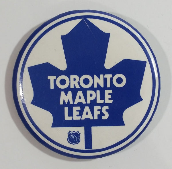 Vintage NHL Toronto Maple Leafs Ice Hockey Team Round Button Pin Sports Collectible