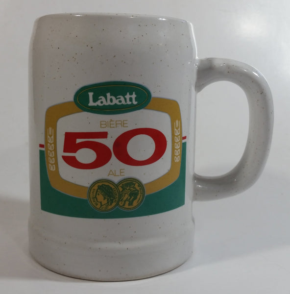 Vintage Labatt 50 Ale Beer Stoneware Stein Mug - Bar Pub Lounge Breweriana Collectible