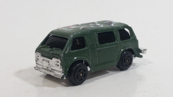 "Buddy L ""Metal Made"" Mini Army Military Van Olive Green Die Cast Toy Car Vehicle"