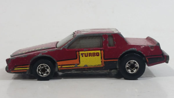 1985 Hot Wheels Crack Ups Hood Basher Stock Car Maroon Turbo Die Cast Toy Car Vehicle Hong Kong