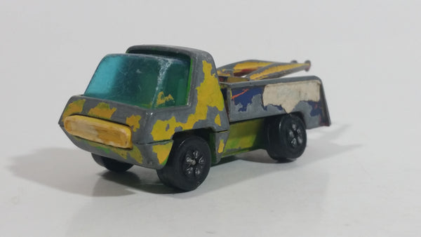 Vintage PlayArt Yellow Tow Truck Die Cast Toy Car Vehicle Made in Hong Kong