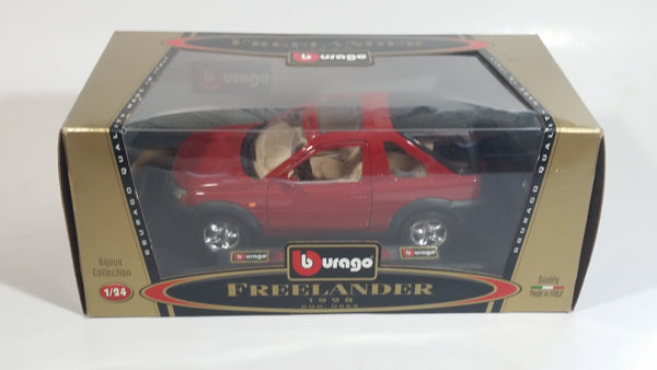 Burago Bijoux Collection 1998 Land Rover Freelander 1/24 Scale Red Die Cast Toy Car Vehicle In Box