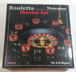 Party Alley Roulette Shooter Set of 16 Shot Glasses and Wheel Drinking Gambling Collectible New in Box