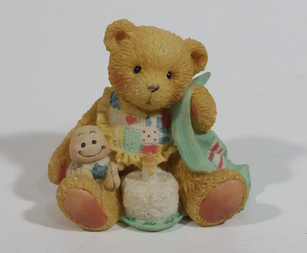 "1992 Cherished Teddies P. Hamilton 911348 Age 1 ""Beary Special One"" Decorative Resign Teddy Bear Ornament Figurine Decorative Collectible"