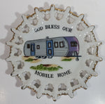 "Vintage ""God Bless Our Mobile Home"" Beautiful Decorative Wall Plate Made in Japan"