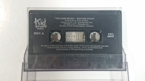 "Vintage 1983 Kid Stuff  ""The Care Bears"" Bedtime Story Produced by John Braden Audio Cassette Tape"