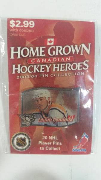 2003/04 NHL Canadian Home Grown Hockey Heroes Pins Collection New in Package Sold Individually