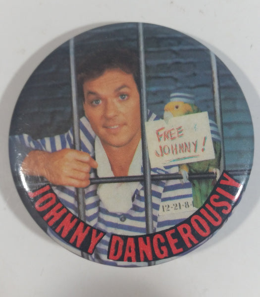1984 Johnny Dangerously Comedy Parody Movie Film Michael Keaton Round Button Pin