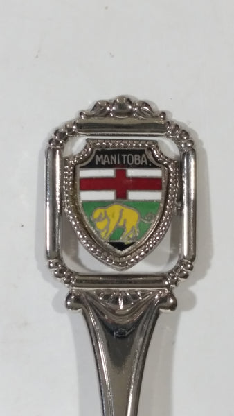 "Manitoba Rotating ""Wish You Were Here"" Enamel and Metal Spoon Souvenir Travel Collectible"