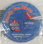"2011 CBC Hockey Day In Canada Air North NHL Ice Hockey Whitehorse Yukon Round Circular 2"" Button Pin Souvenir Travel Collectible In Packaging"