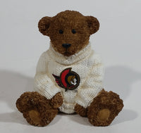 NHL Ice Hockey Limited Edition Ottawa Senators Sports Team Resin Bear Decorative Ornament Collectible