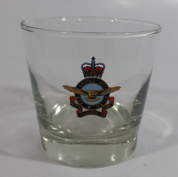 "RCAF Royal Canadian Air Force 3"" Tall Glass Whiskey Cup"