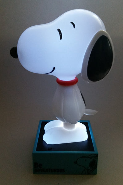 "2015 Peanuts Worldwide Snoopy Cartoon Comic Strip Character 11 1/2"" Tall Light Up Dog Shaped Glowing Lamp"