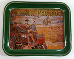 "Vintage 1980s Peugeot Automobiles 10 1/2"" x 13"" Metal Beverage Serving Tray Automotive Car Collectible"