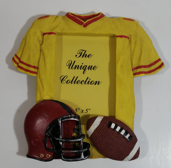 "The Unique Collection Football Sports Themed 3 1/2"" x 5"" Resin Picture Photo Frame"