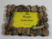 "The Unique Collection River Rock Fishing Fish Themed 3 1/2"" x 5"" Resin Picture Photo Frame"