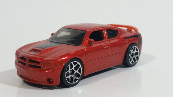 2007 Hot Wheels Dodge Charger SRT8 Metalflake Dark Orange Die Cast Toy Car Vehicle