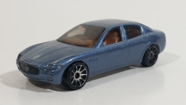 2004 Hot Wheels First Editions Maserati Quattroporte Steel Blue Die Cast Toy Luxury Car Vehicle 29/212