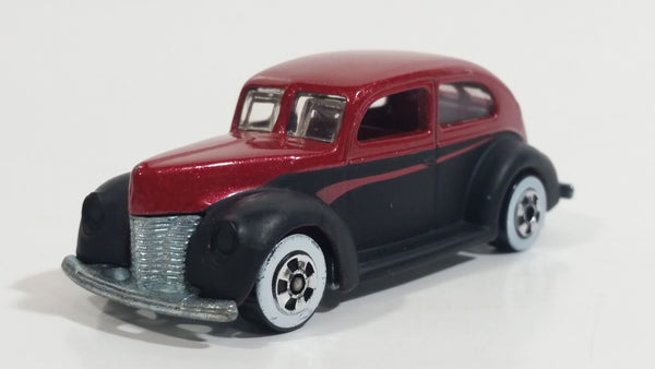 2007 Hot Wheels Since '68 '40 Ford 2-Door Metalflake Red and Black Die Cast Toy Hot Car Vehicle WW